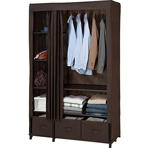 ALUS- Reinforced Double Cloth Wardrobe Single Collection Cabinet Three Drawer Large Wardrobe Assembly (Color : 2#) ()