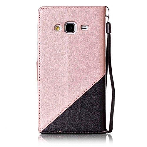 para Galaxy J3 (2016) Funda Samsung J3 (2016) Carcasa Wallet Case Suave PU Leather Cuero Cubierta Impresión Libro - Sunroyal® Ultra Slim Case Flip Cover Empalme Contraportada Cierre Magnético Función  A-03