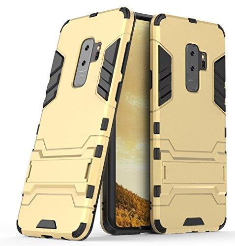 Capa para Galaxy S9, SKUDO Defender [Dual Layer][Anti Impacto ][Military Grade], Samsung Galaxy S9 (G960) - Dourada
