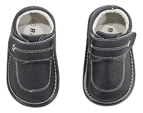 Anderson Baby Care LLC Squeaky Shoes for Toddler Boys (4T, Black Loafer) by Anderson Baby Care LLC (Image #1)'