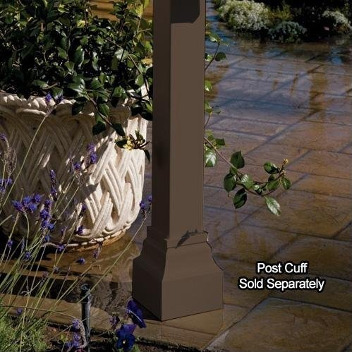 Gaines Manufacturing Keystone Aluminum Standard Mailbox Post in Bronze ()