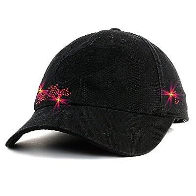 Detroit Red Wings Ladies Black Gem Cap, Black, Adjustable by Zephyr