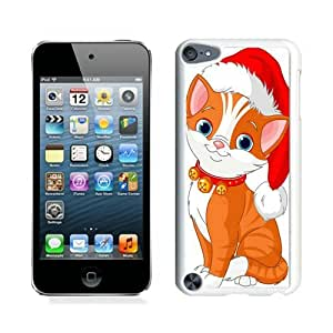 2014 Newest Christmas Cat White iPod Touch 5 Case 8