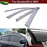 4pcs Smoke color Window / Visor Vent Shade Rain Guard Sun Guard Wind Guard Shied with Chrome Trim Emblems Custom Fit For Honda Fit Honda HR-V HRV 2015 2016 2017