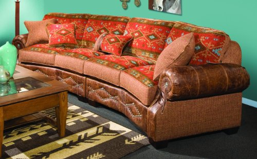 Chelsea Home Furniture Jackson 2 piece Sectional, Downing Harvest/Stagecoach Redwood 2 18
