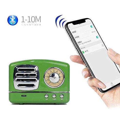 Befon Bluetoothスピーカー 超ポータブルスピーカー 低音強化 携帯電話 iPad USB TFメモリーカード/ノートパソコン グリーン   B07PLHTB4C