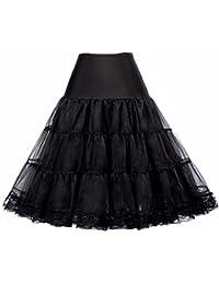 Women's 50s Vintage Petticoat Crinoline Tutu Underskirts Plus Size S-3X