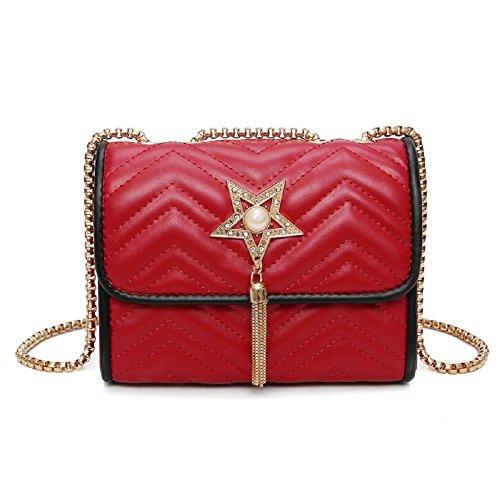 à avec version la sac rouge motif étoiles gland coréenne de Zhrui chaîne motif de bandoulière qdz0wR
