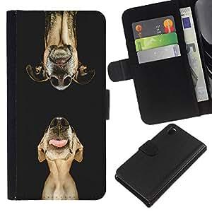 Dog Retriever Plott Muzzle Pet Art - la tarjeta de Crédito Slots PU Funda de cuero Monedero caso cubierta de piel Sony Xperia Z3 D6603