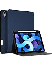 ProCase New iPad Air 4 Case (Latest Model), iPad 10.9 inch 2020 Case with Pencil Holder, Slim Protective Folio Stand Cover for iPad Air 4th Generation 10.9 inch 2020 Release -Navy