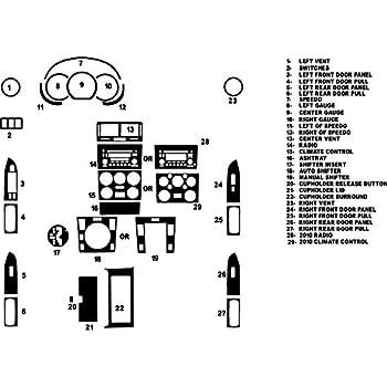 Silver Matte Rdash Dash Kit Decal Trim for Suzuki XL-7 2003-2006 Grand Vitara 2003-2005