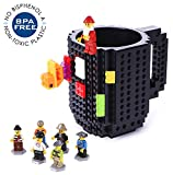 How to Build a Coffee Table Build-On Brick Mug Lego Type Creative DIY Building Blocks Coffee Cup Water Bottle Puzzle Toy Mug 12oz 350 ml Desk Ornament Christmas Gift