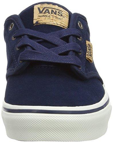 Vans Atwood Deluxe, Zapatillas Unisex Niños Azul (Suede Blue/Blanket)