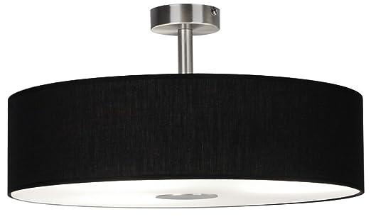 Ledar Lemgo - Lámpara de techo, color negro, incluye 3 x ...