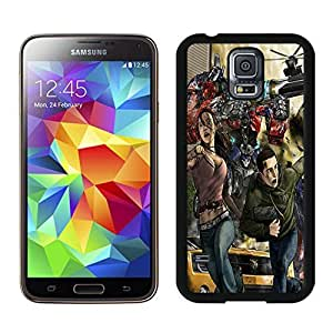 Lovely And Durable Designed Case With Transformers The Movie Cover Case For Samsung Galaxy S5 I9600 G900a G900v G900p G900t G900w Black Phone Case CR-662