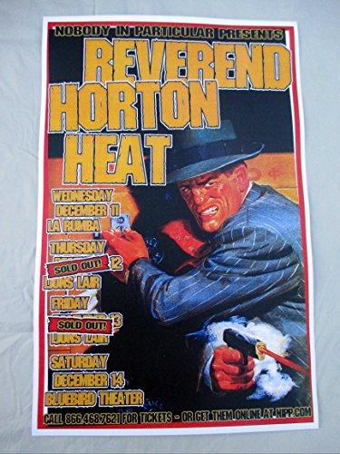 2002 Reverend Horton Heat Winter Tour Concert Poster Vintage Detective