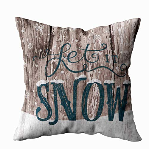 Shorping Dads Fathers Day, Zippered Pillowcases 20X20Inch Throw Pillow Covers let it Snow Christmas Holiday Winter for Home Sofa Bedding