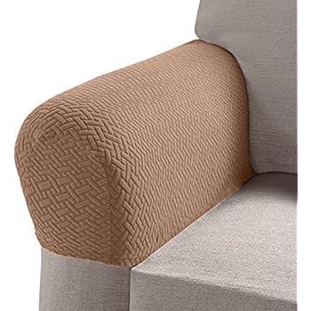 Pleasing Amazon Com Madison Mason Stretch Armrest Covers Brick 2 Inzonedesignstudio Interior Chair Design Inzonedesignstudiocom