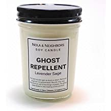New Home Candle - Fall Candle - Ghost Repellent - Lavender Candle - Sage Candle - Herbal Candle - Best Seller - Haunted Home Remedy - Halloween Ghost Candle