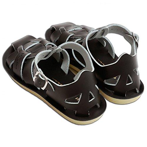 Saltwater Sandals Sharks Black