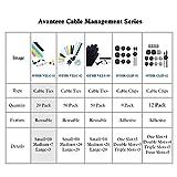 Avantree Pack of 20 Reusable Cord Organizer
