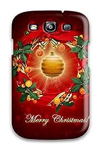 tiffany moreno's Shop Galaxy S3 Case Cover Skin : Premium High Quality Merry Bright Christmas Case