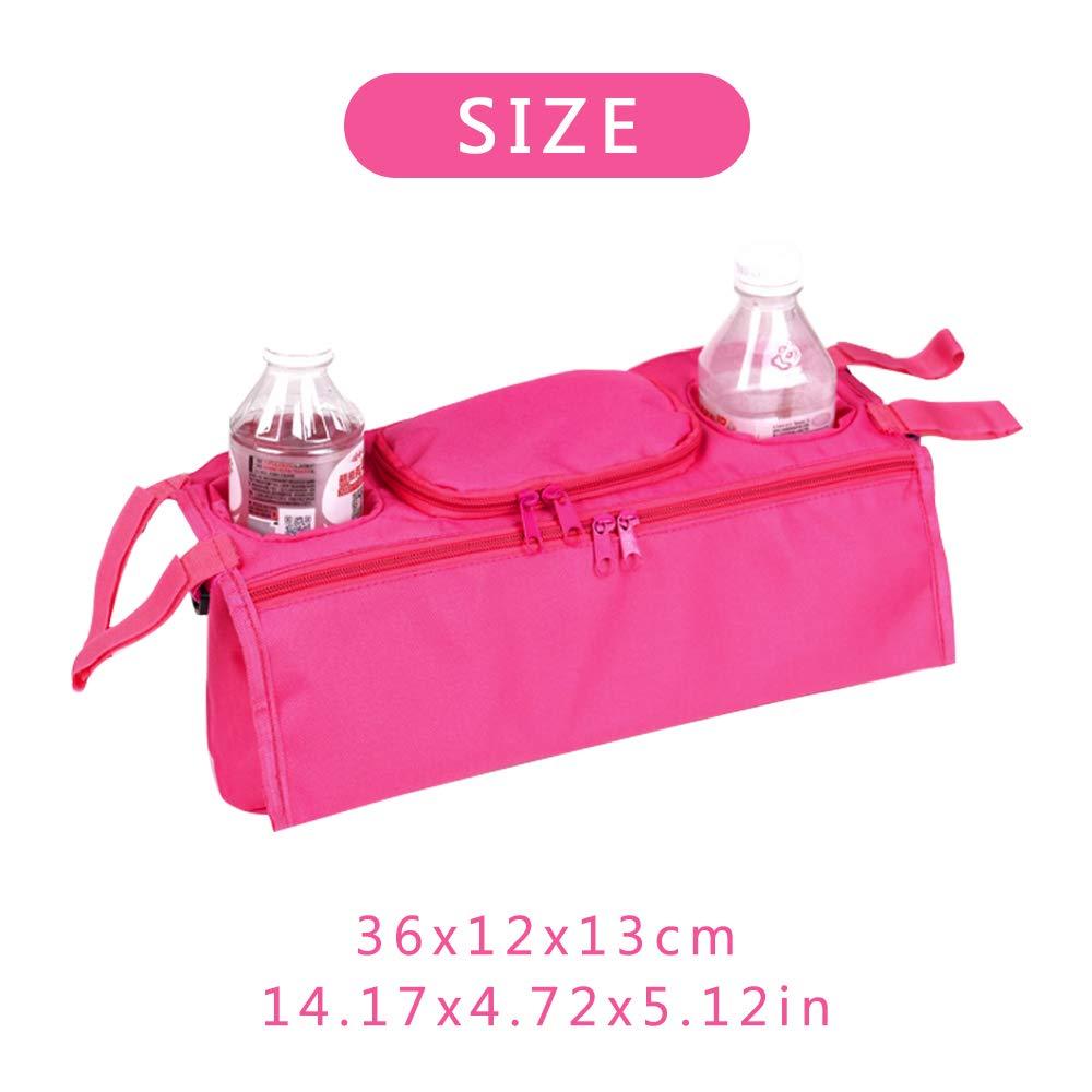 rosa Newin Star Organizador para cochecitos,Bolsa de cochecitos//sillas de Paseo//carritos Universal y Multifuncional Dise/ño Animado Bolsa Colgando de cochecitos