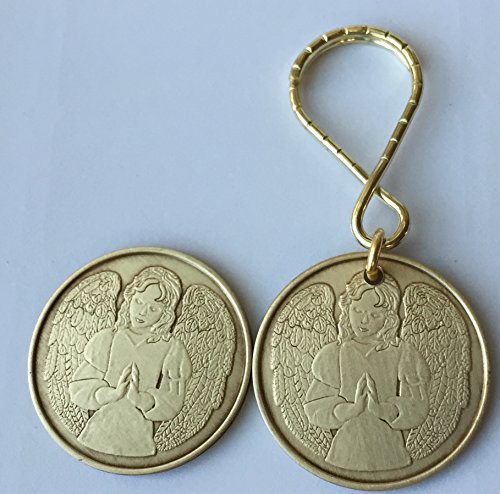 Guardian Angel Keychain Medallion Set An Angel To Be With You When I Cannot