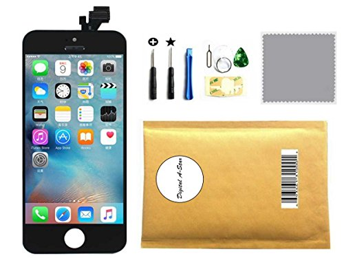 LCD Digitizer Replacement Touch Screen Glass Replacement Full Assembly for iPhone 5 5G Black
