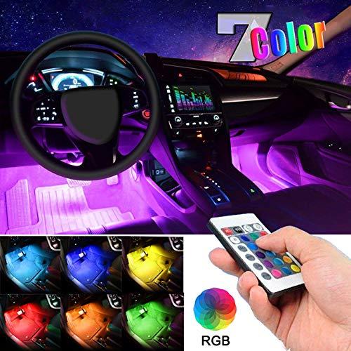 EJ's SUPER CAR Car LED Strip Light, 4pcs 36 LED Multi-Color Car Interior Lights Under Dash Lighting Waterproof Kit with…