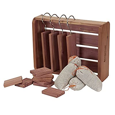 Cedar Fresh Deluxe Cedar Storage Accessory Kit with bonus 12 x 9 Cedar Box
