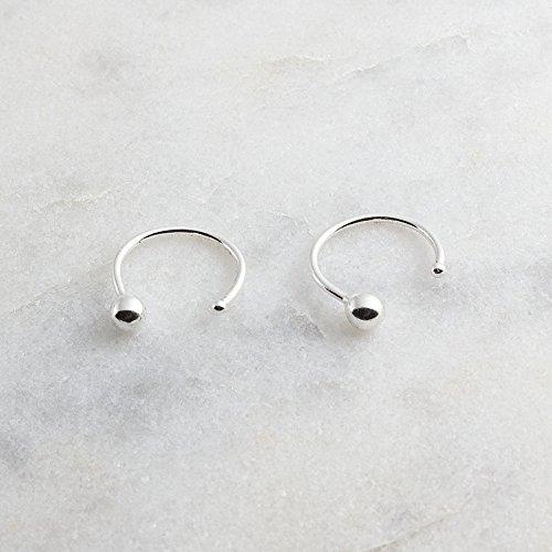 Nose Hoop Ring Nose Studs Body Piersing Ball 2.5mm 21 gauge by Fashion Art Jewelry