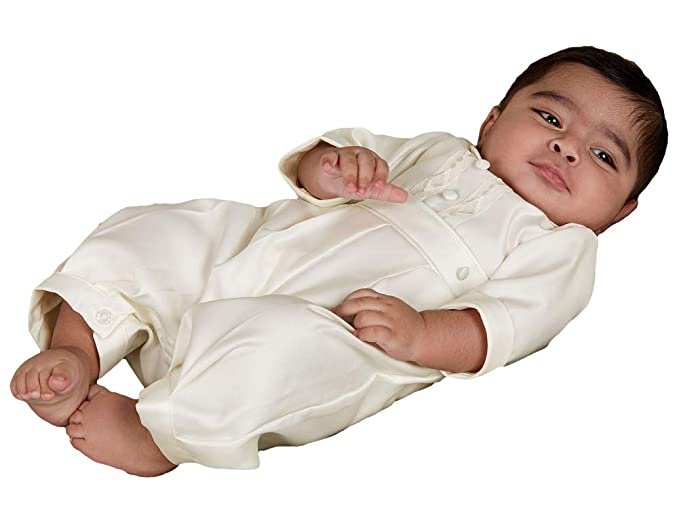 ShineGown Baby Boys\' Baptism Gown 3/4 Length Sleeves Christening ...