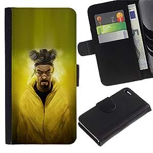 UNIQCASE - Apple Iphone 4 / 4S - Evil Chemist - Cuero PU Delgado caso cubierta Shell Armor Funda Case Cover