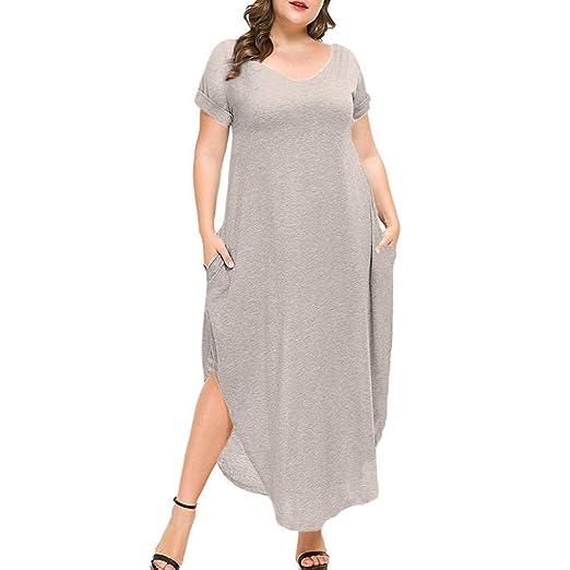 Amazon.com: Women\'s Plus Size Evening Dresses V Neck Cuffed ...