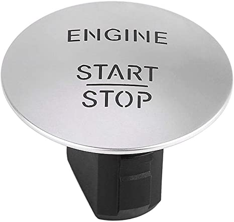 Cl/é Goless Stop Start Bouton-poussoir Interrupteur dallumage du moteur Argent Cl/é Go Start Stop Button