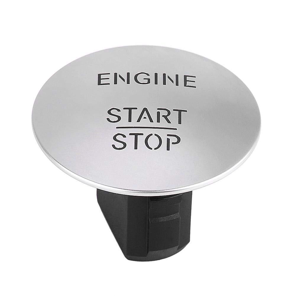 Bouton de dé marrage du moteur - Delaman Keyless Go Start Stop Push Button Interrupteur d'allumage du moteur pour Mercedes 2215450714 Argent