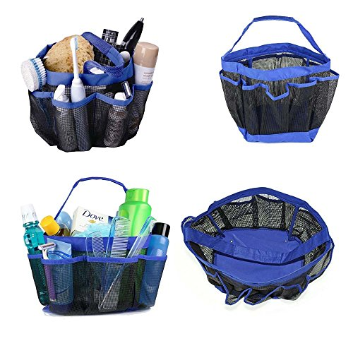 TracyTrends Shower Caddy - Waterproof Mesh Storage Tote Bag Organizer Eight (8) Pocket Gift