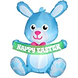 Gemmy Easter Bunny Airblown Inflatable 3.4 Ft Tall (Blue)