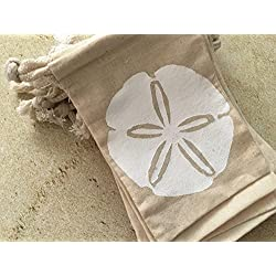 Sand Dollar Beach Party and Wedding Favor Bag, 4x6, 25