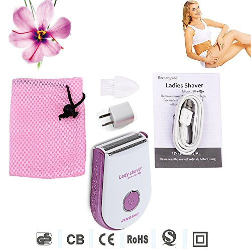Waterproof electric shaver Hair Removal Clipper Device women Bikini Underarm body lady Female  Rechargeable Epilator Razor cordless Wet Dry mini trimmer for leg underarm Bikini Line underarm