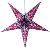 Pink Obsession Paper Star Lantern with 12 Foot Power Cord Included