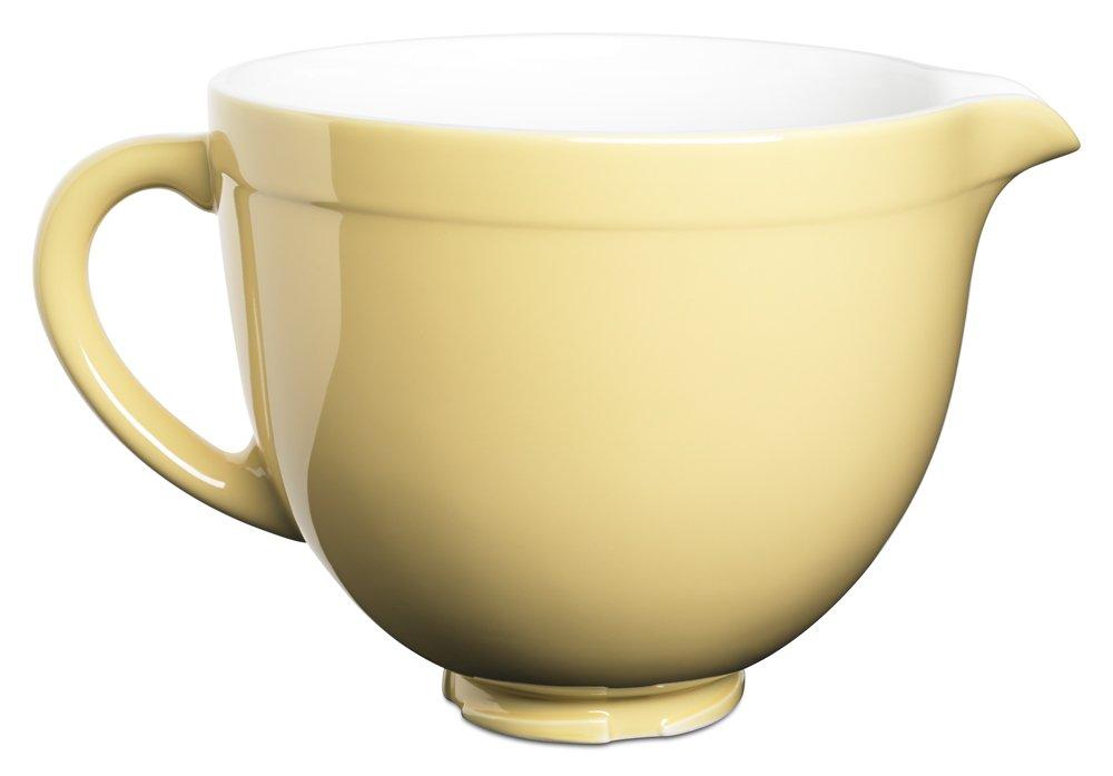 Amazon.com: KitchenAid KSMCB5MY 5 Qt. Tilt Head Ceramic Bowl   Majestic  Yellow: Kitchen U0026 Dining