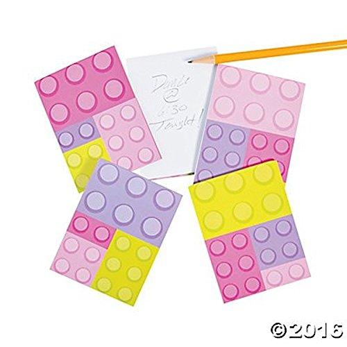 Pastel Color Brick Party Notepads - 24 pc -