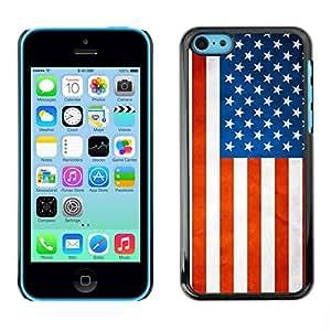 PC/Aluminum Funda Carcasa protectora para Apple Iphone 5C National Flag Nation Country USA / JUSTGO PHONE PROTECTOR