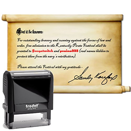 Blue Ink, Signature Stamp, Self Inking. Your Own Signature Customized into the Best Quality Stamper. Great For Regular Signing. Color Options Available. Sign Off Checks, Contracts, Certificates by Pixie Perfect Signature Stamps (Image #8)