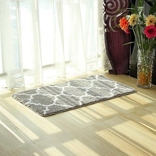 EZON-CH Modern Non Slip Bathroom Bath Shower Lattice Mat Toilet Geometry Floor Rug Carpet - 24 Inch Lattice