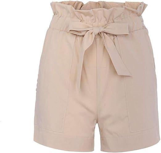 WANGYAN1886-shorts Vendaje de Cintura Alta de Color Puro for Mujer ...