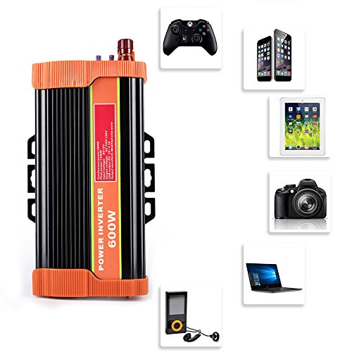 soyond 600W Car Power Inverter Converter DC 12V to 110V/120V AC with 2.1A Dual USB Car Charger Adapter by soyond (Image #5)