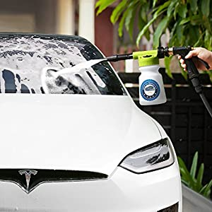 AOOU Foam Blaster Wash Gun Car Foam Gun Deluxe Great Foam Sprayer Professional Washing Cleaning Sprayer Easy Foaming Suds Maker with 900ml Bottle Leak Free Connection with Garden Hose